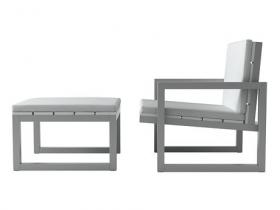 Saler armchair & pouf