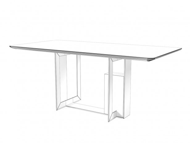 Moore 180 and 240 Rectangle Dining Tables 2