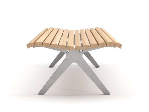 Poca Outdoor Bench without Backrest 3