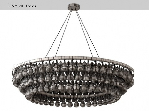 Arctic Pear Chandelier Round 120 3d model | Ochre