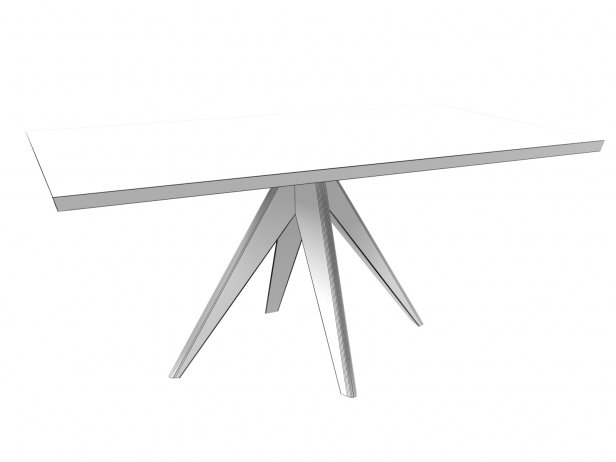 Noa 160 Rectangular Dining Table 3