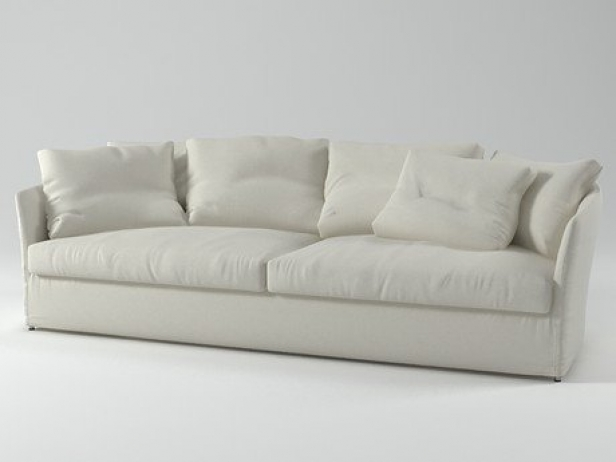 Curve sofa 3d model living divani for Sofa 3d model