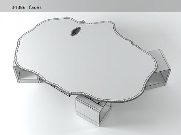 Tavolone 3d model meritalia for A tavolone