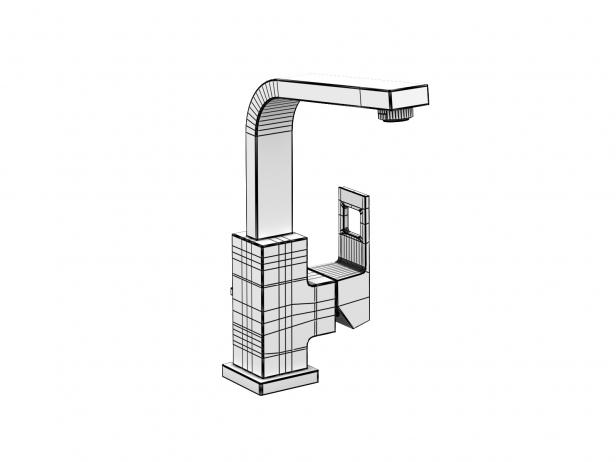Cube Countertop Basin 80 Set 8