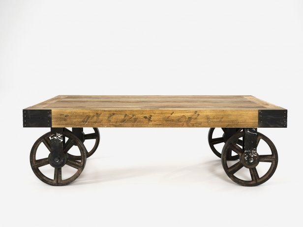 Industrial Cart Coffee Table 2