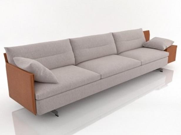 Grantorino 3 seater sofa modello 3d poltrona frau for Poltrona torino