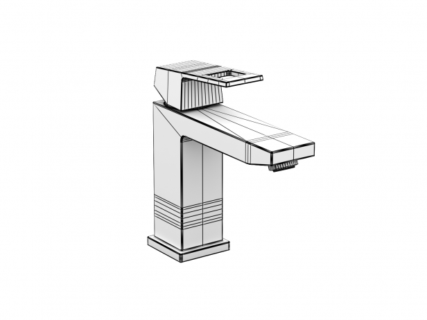 Cube Countertop Basin 60 Set 11