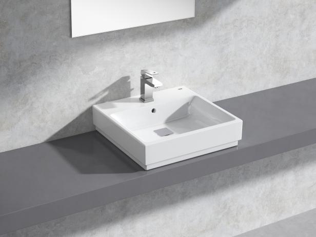 Cube Countertop Basin 50 Set 1
