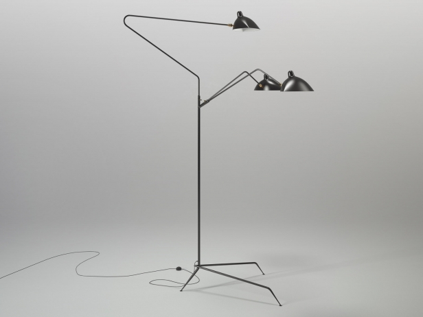 three arm floor lamp 3d model serge mouille. Black Bedroom Furniture Sets. Home Design Ideas