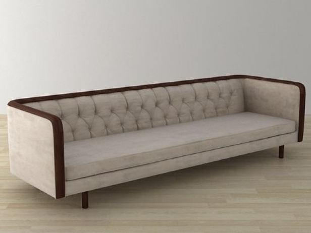Extra long 1960 39 s capitonn sofa 3d modell for Sofa skandinavisches design