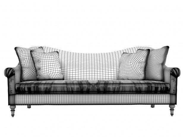 Cerise Velvet Sofa 4