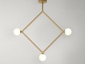 Rhombus 1 Globe Pendant Lamp