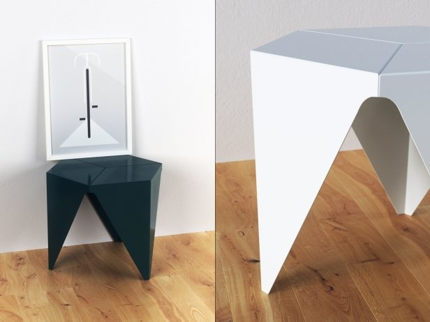 prismatic side table mod le 3d vitra. Black Bedroom Furniture Sets. Home Design Ideas