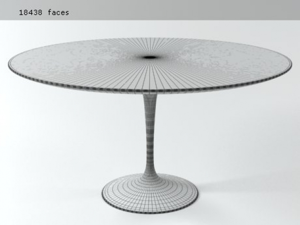 Tulip Round Table 3d Model Knoll