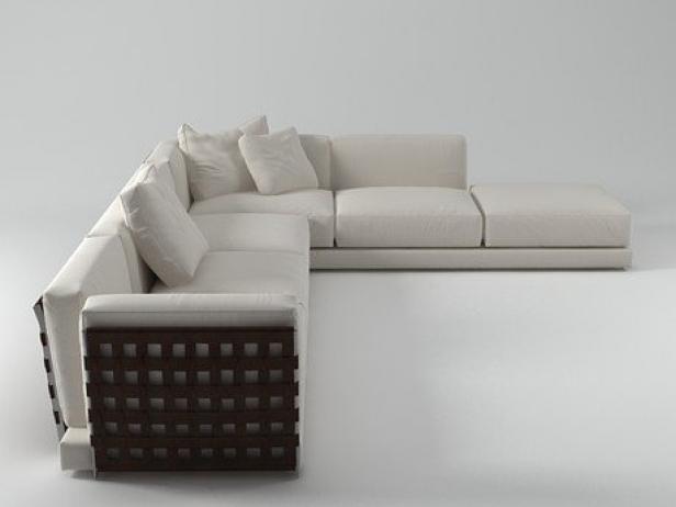 cestone sofa set01 3d modell flexform. Black Bedroom Furniture Sets. Home Design Ideas