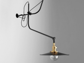 Bent wall lamp