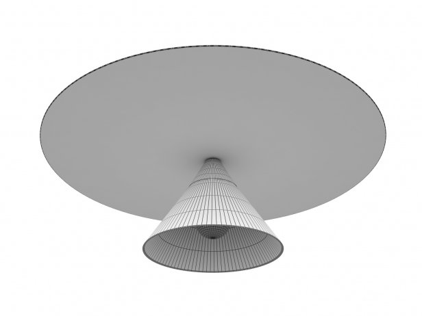 Plate and Cone Ceiling Lamp 3