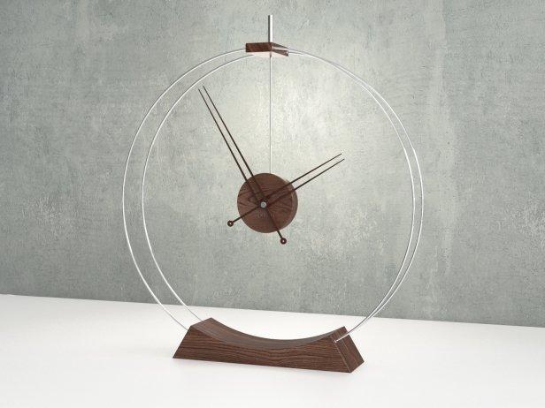 Double Rings Desk Clock 2