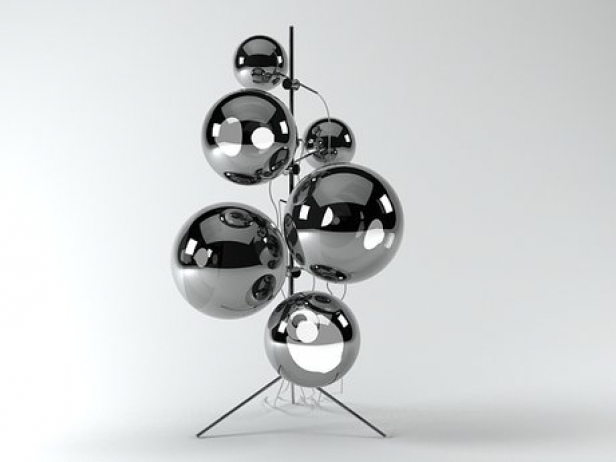 mirror ball stand 3d model tom dixon. Black Bedroom Furniture Sets. Home Design Ideas