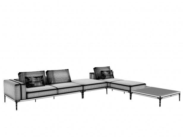 Outdoor Corner Sofa Comp D 3