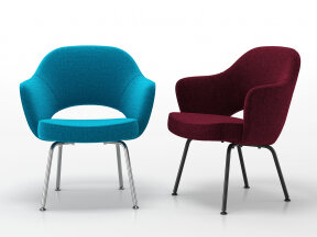 Saarinen Executive Armchair with Tubular Legs