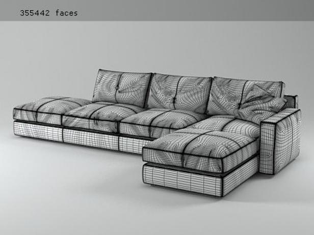 massimosistema group 1 3d modell poltrona frau. Black Bedroom Furniture Sets. Home Design Ideas