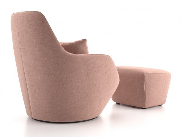 Amédée Armchair and Footstool 3