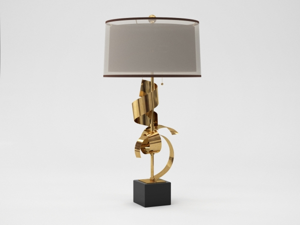 Brass Curls Lamp 2
