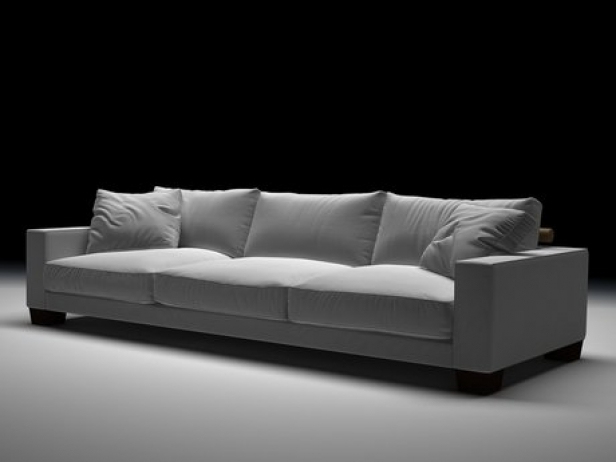 status sofa modello 3d flexform. Black Bedroom Furniture Sets. Home Design Ideas