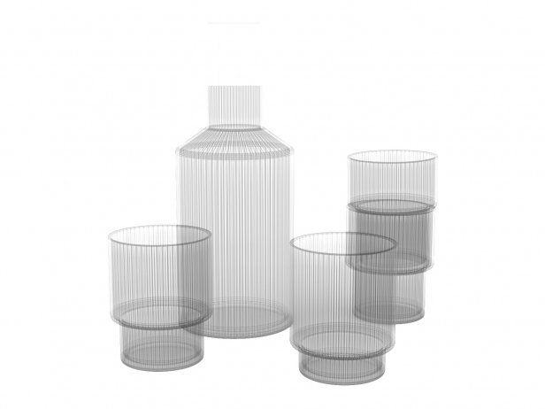 Ripple Glass Tableware Set 6