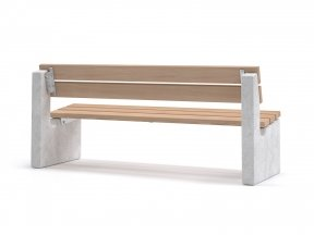 Maro Outdoor Bench with Backrest