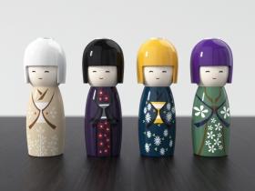 Kokeshi Candlesticks