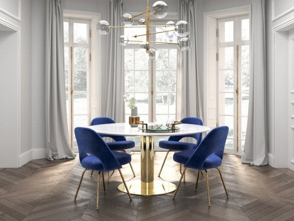 Dining Set Saarinen Blue