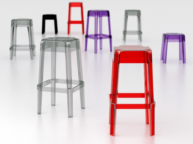 Transparent Barstools 1
