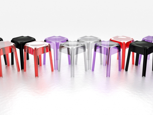 Transparent Barstools 4