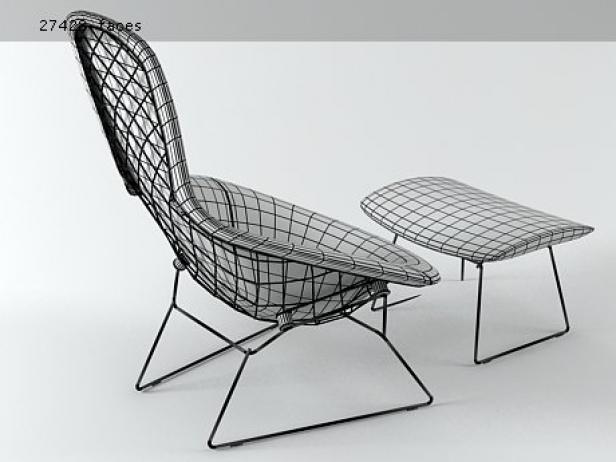 Bertoia Bird 3d model – Bertoia Bird Chair Cover
