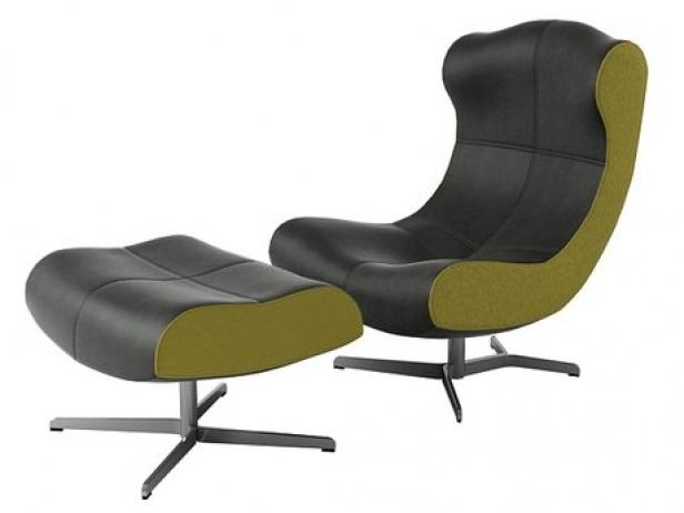 alster armchair and footstool 3d model ligne roset. Black Bedroom Furniture Sets. Home Design Ideas