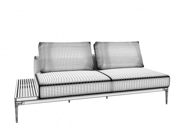 Outdoor Single & Double Seating Element 7