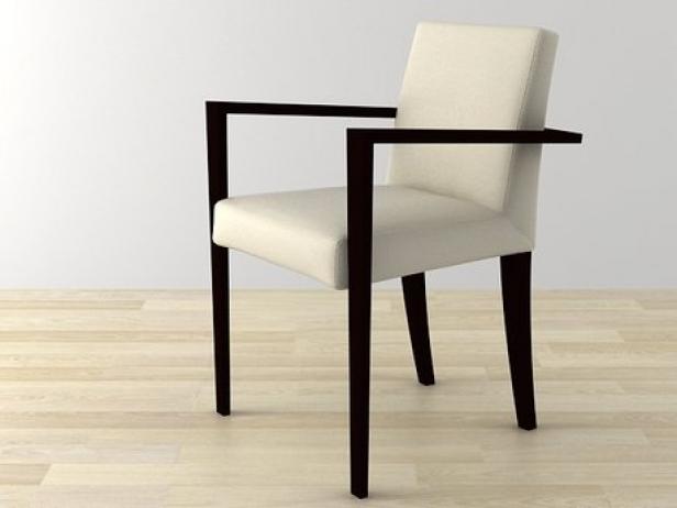 French Line Dining Armchair 3d model | Ligne Roset