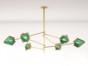 Harlow Spoke Chandelier L