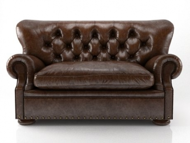 5u0027 Churchill Leather Sofa 9