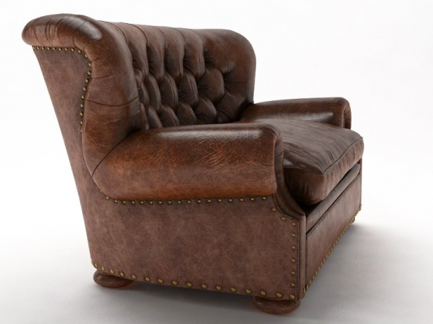 Attrayant 5u0027 Churchill Leather Sofa 6