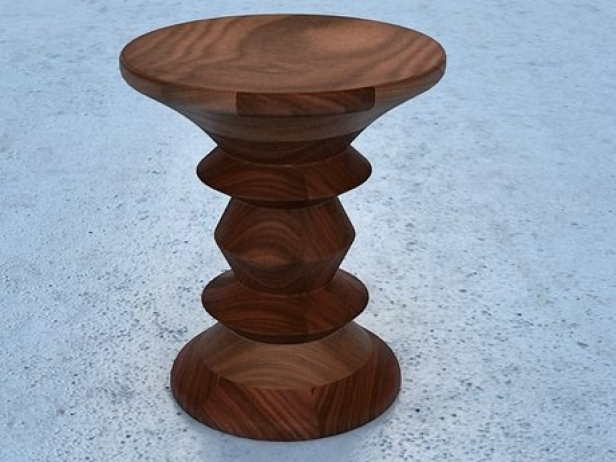 Eames Walnut  Stool 1 3