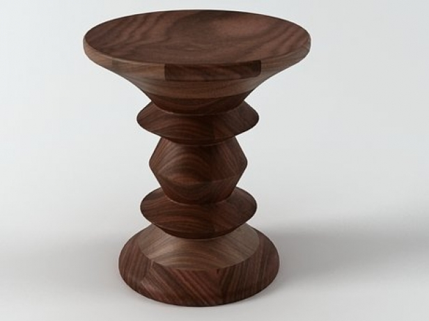 Eames Walnut  Stool 1 4