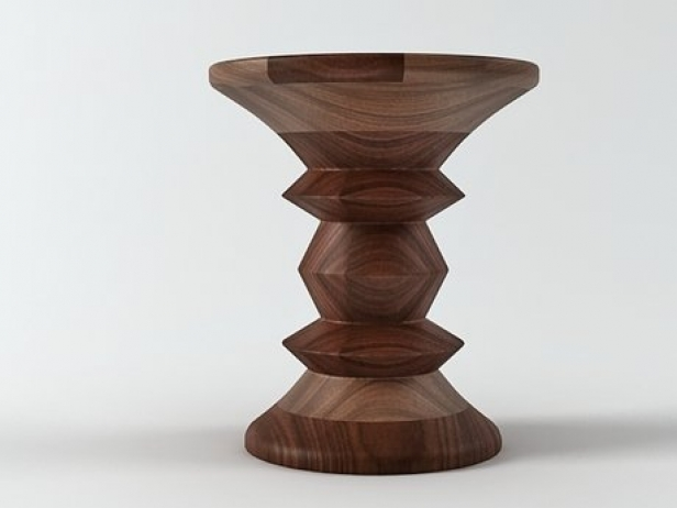 Eames Walnut  Stool 1 2