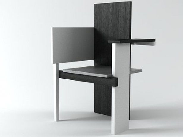 Chairs Berlin berlin chair 3d model rietveld by rietveld