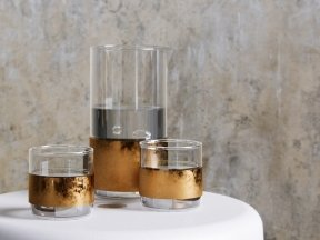 Copper Carafe & Glass Set