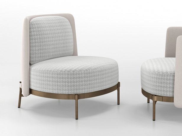 Tape Armchair without Armrests 3
