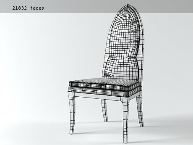 Arch Back Side Chair 3d Model Harvey Probber