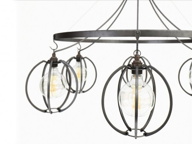Farrier's Cage Six Circle Globe Chandelier 2